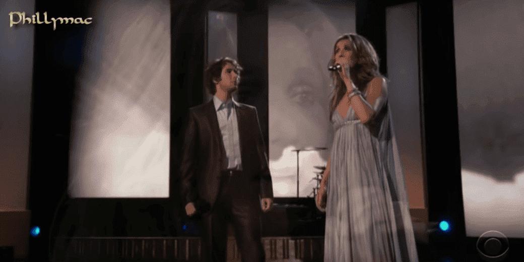Josh Groban und Celine Dion - Quelle: YouTube/Phillymacvideos