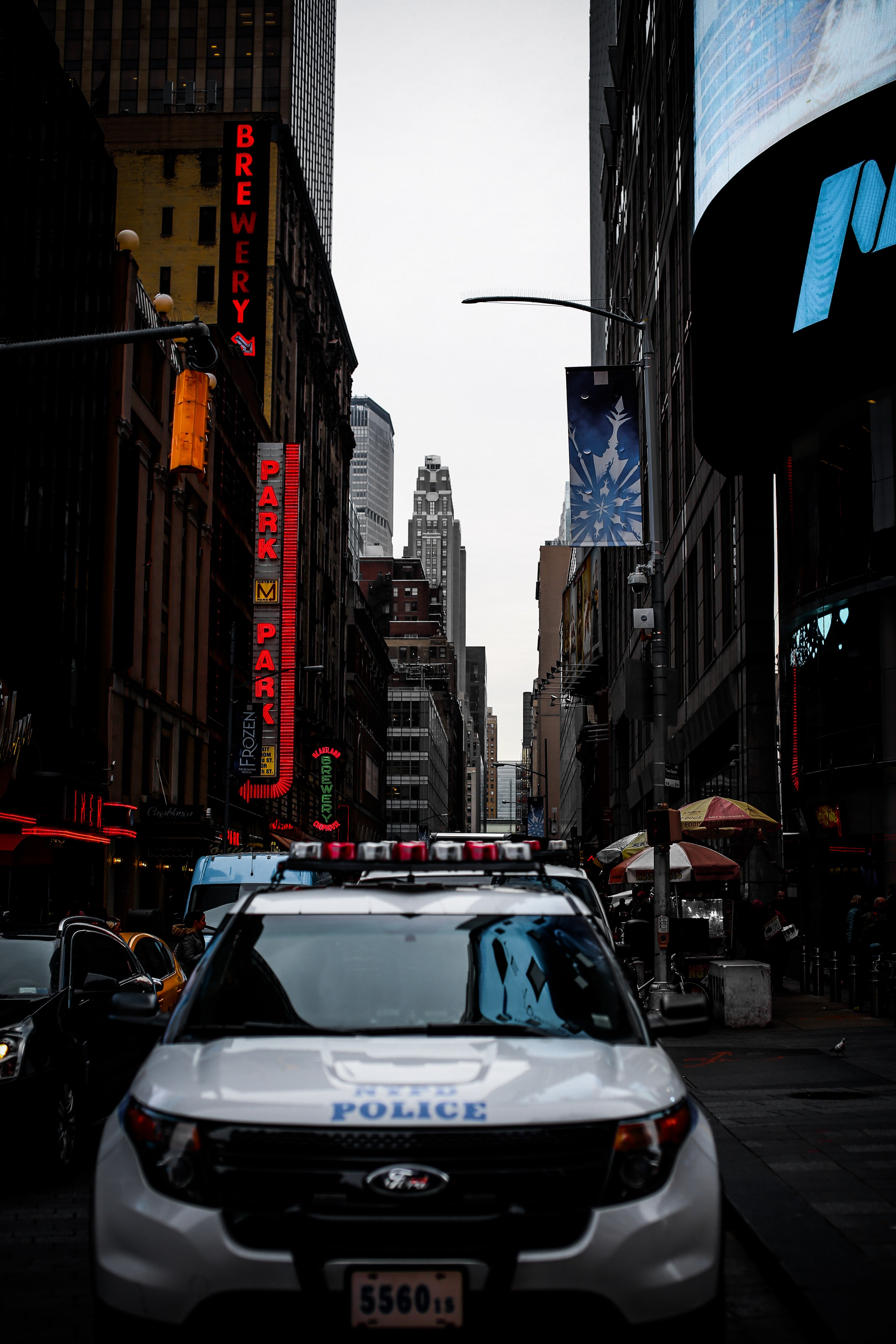 Pictured - A police vehicle in the city   Source: Pexels