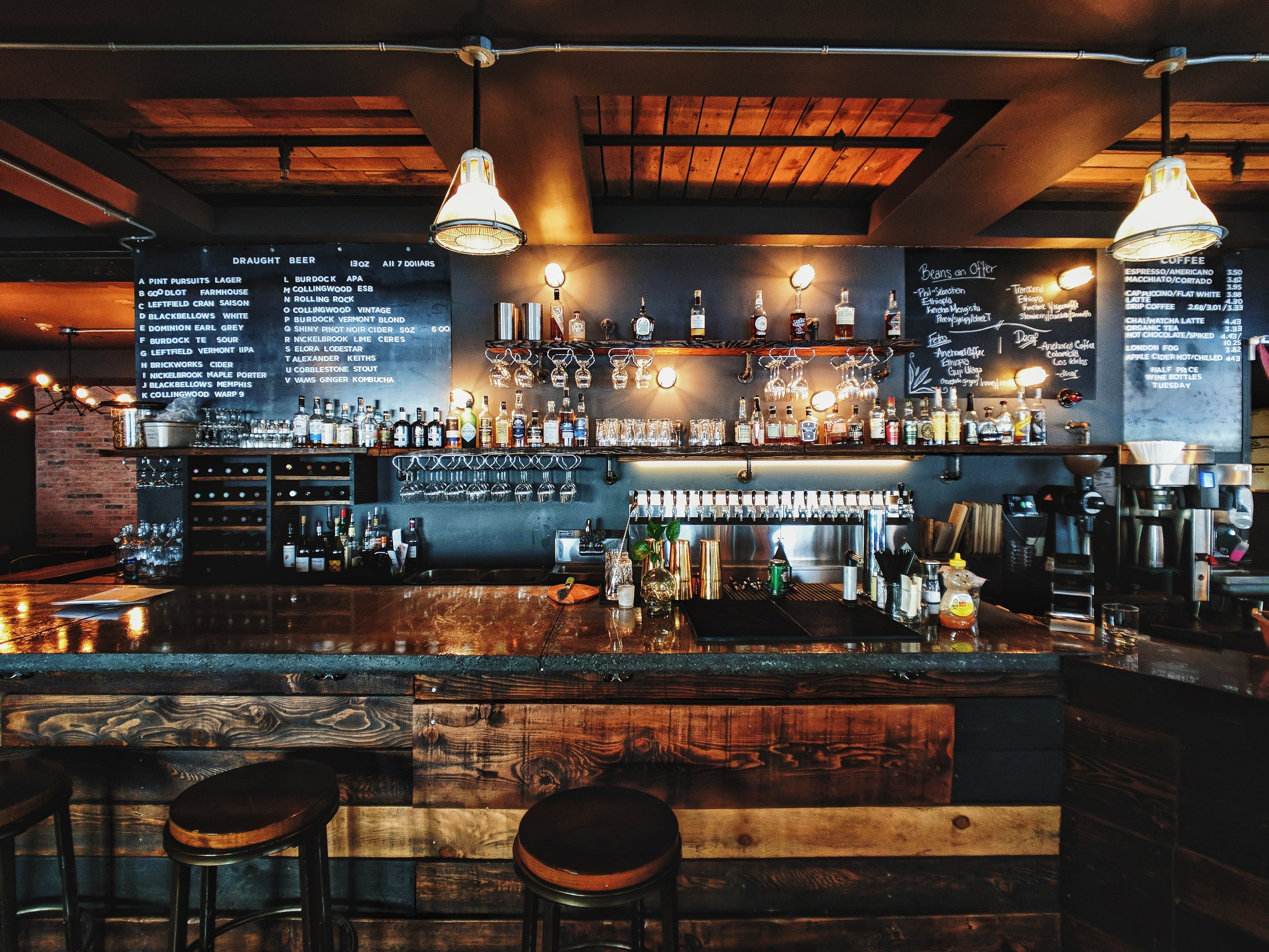 A wooden themed bar | Source: Unsplash.com