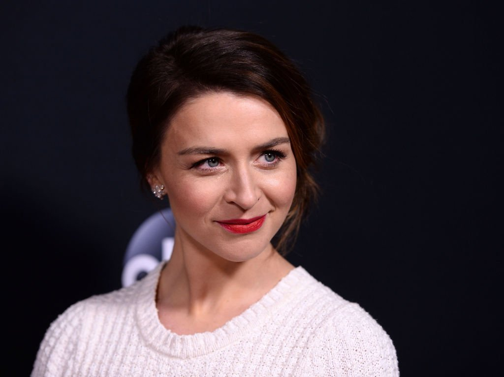 """Actress Caterina Scorsone arrives at the 300th Episode Celebration for ABC's """"Grey's Anatomy"""" at TAO Hollywood on November 4, 2017. 
