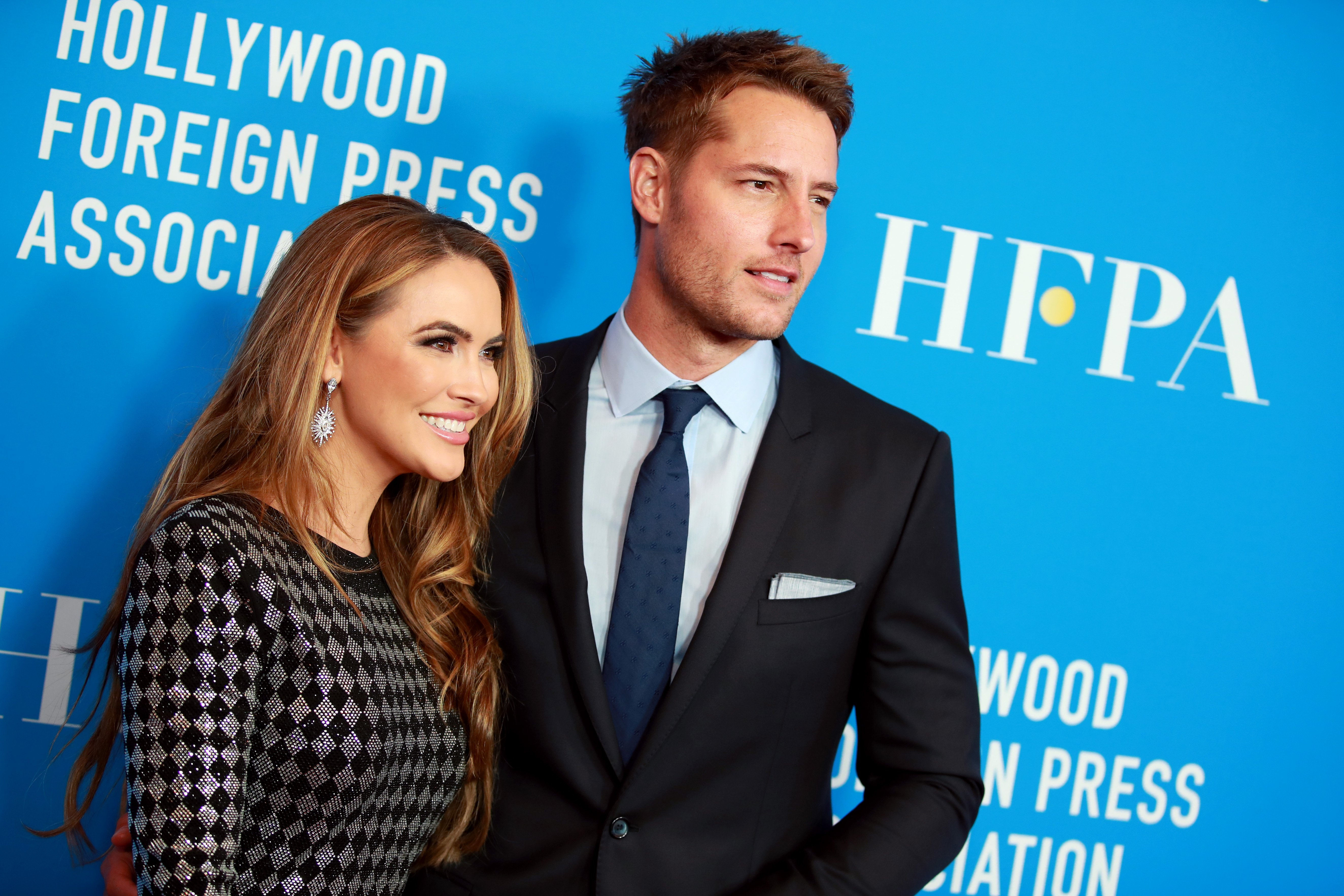 Chrishell Hartley and Justin Hartley attend the Hollywood Foreign Press Association's Annual Grants Banquet at Regent Beverly Wilshire Hotel on July 31, 2019, in Beverly Hills, California. | Source: Getty Images.