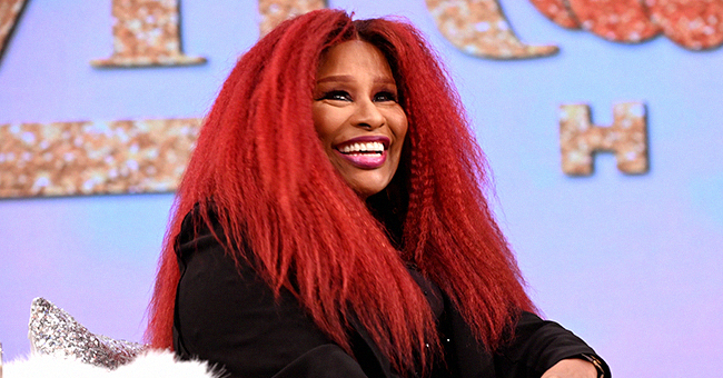 Chaka Khan, 66, Stuns with Her Youthful Beauty in Black Outfit & Red Hair on Tamron Hall's Show