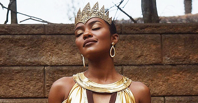 China McClain of 'House of Payne' Flaunted Curves in Golden Dress & Matching Crown in New Pics