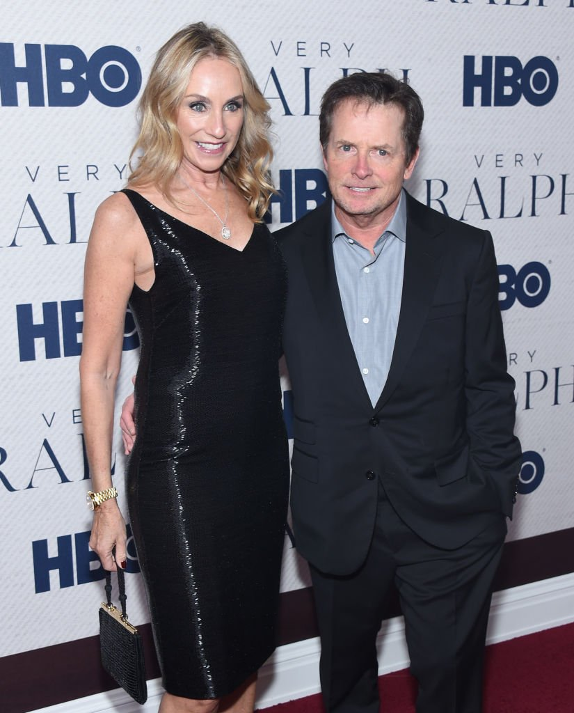 """Tracy Pollan and Michael J. Fox attend HBO's """"Very Ralph"""" World Premiere at The Metropolitan Museum of Art. 