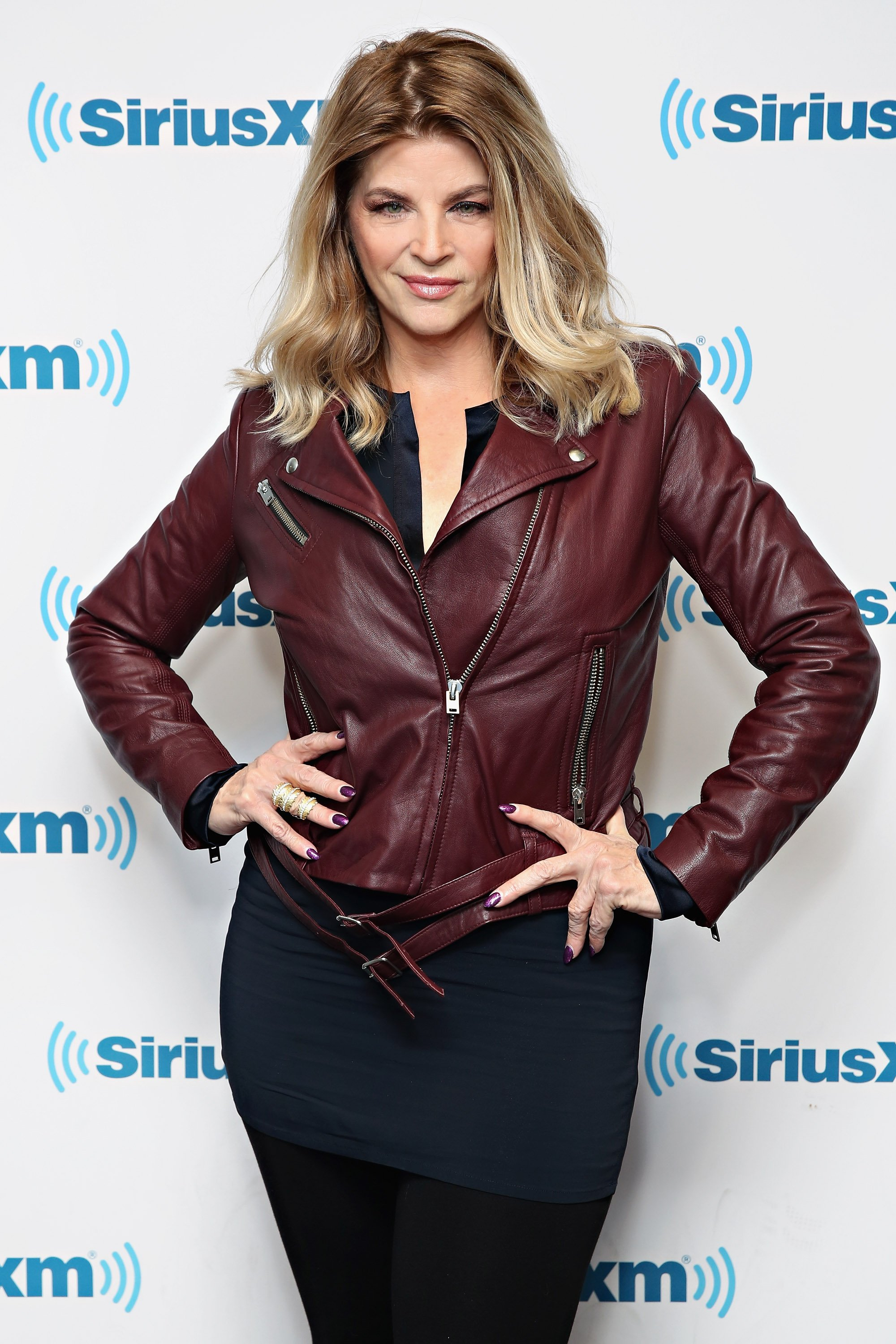 Kirstie Alley visits the SiriusXM Studios on January 6, 2016, in New York City. | Source: Getty Images.