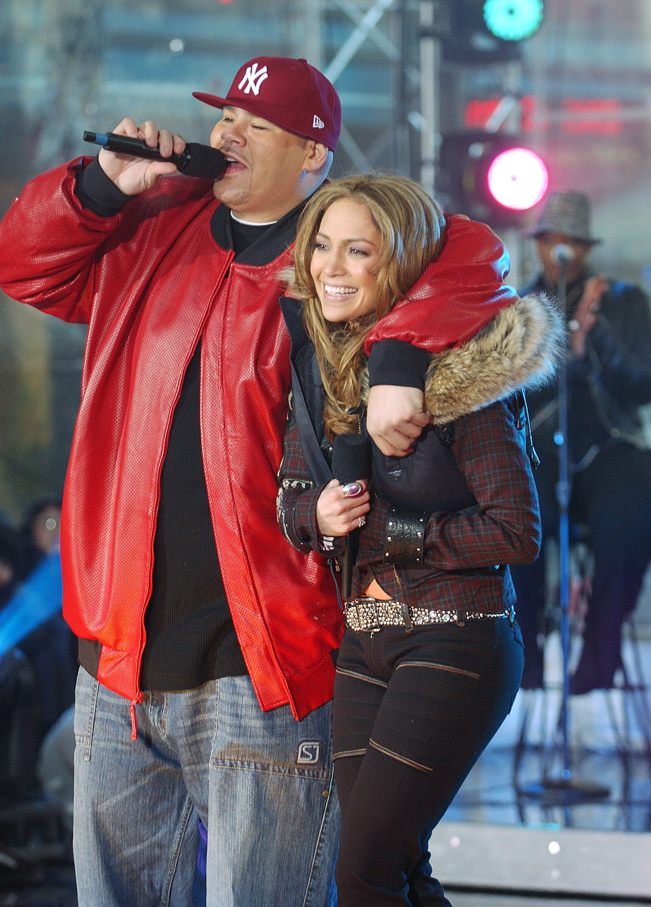 """Rapper Fat Joe and singer Jennifer Lopez perform on the NBC """"Today"""" show March 3, 2005  
