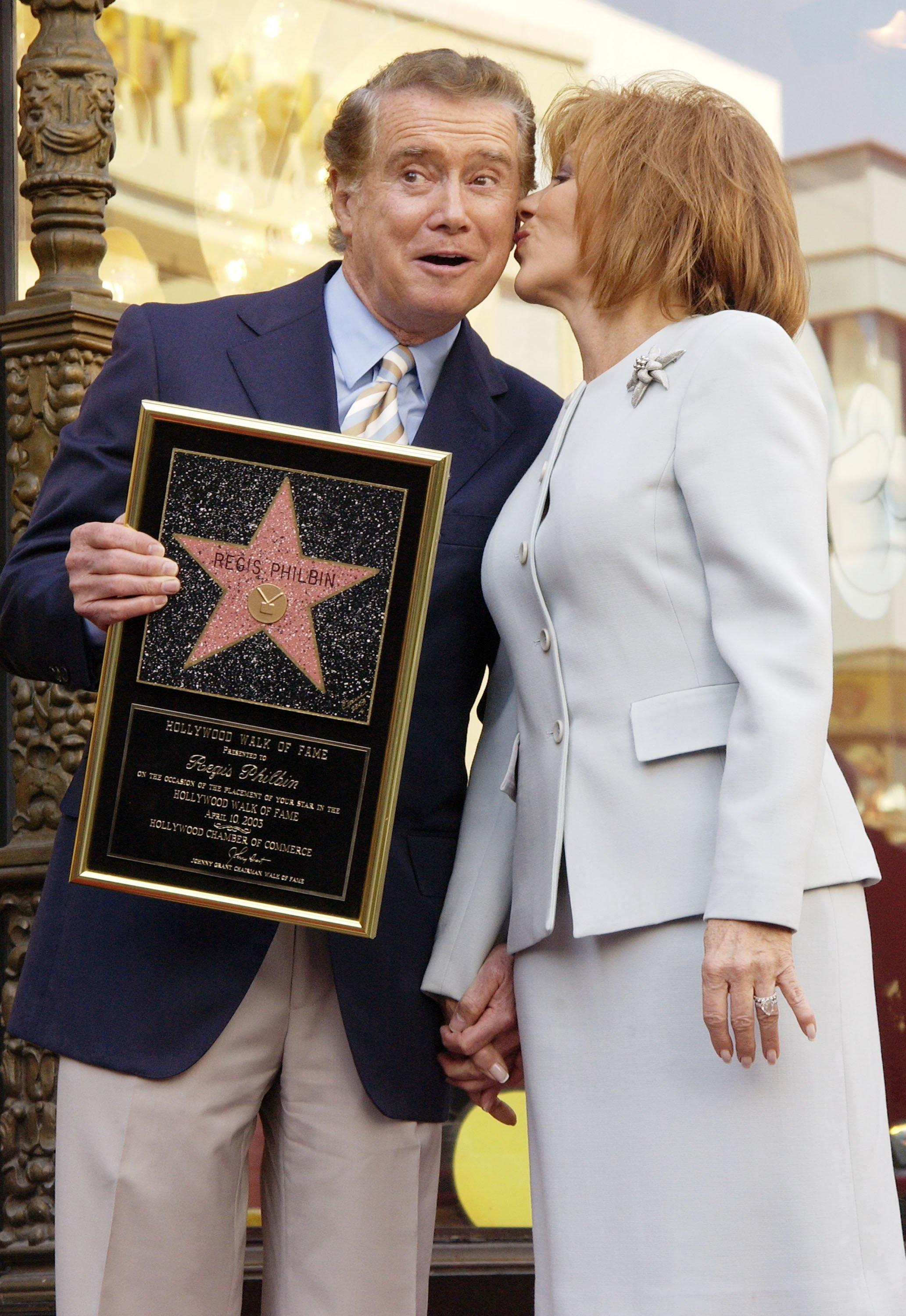 Regis and Joy Philbin on April 10, 2003 in Hollywood, California | Source: Getty Images
