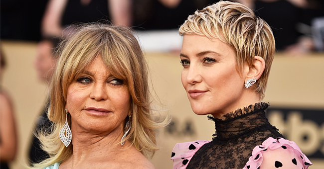 Goldie Hawn Reacts to Kate Hudson Getting Her Head Covered in Green Goo for a Movie