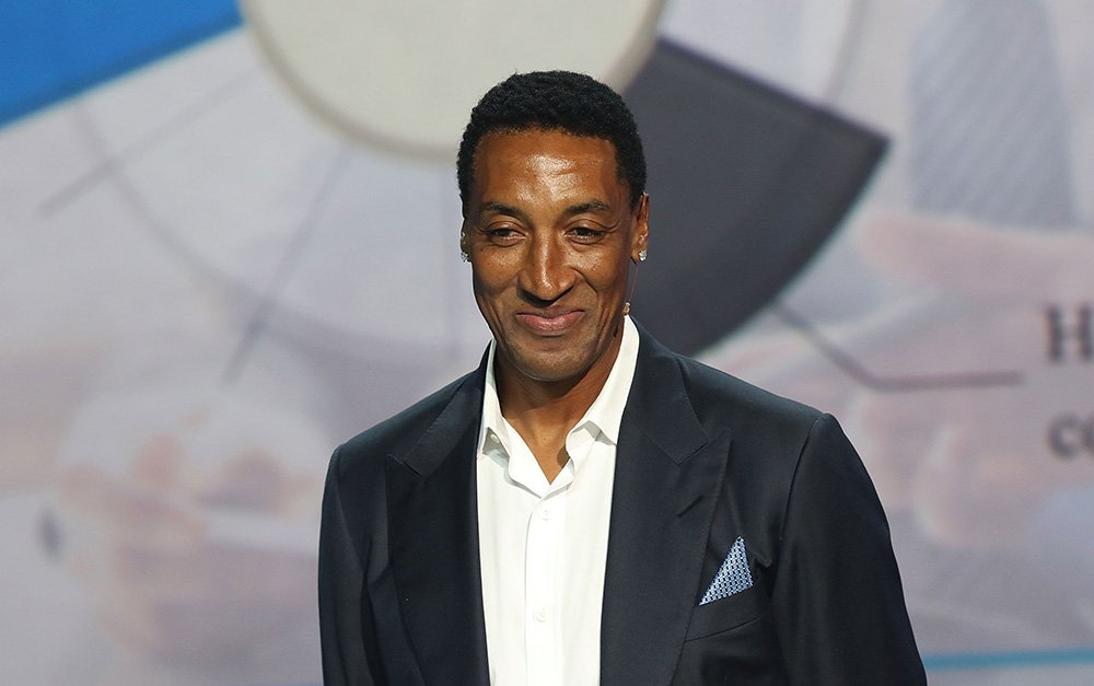 Scottie Pippen att the 2016 Market America Conference on February 4, 2016. | Photo: Getty Images.