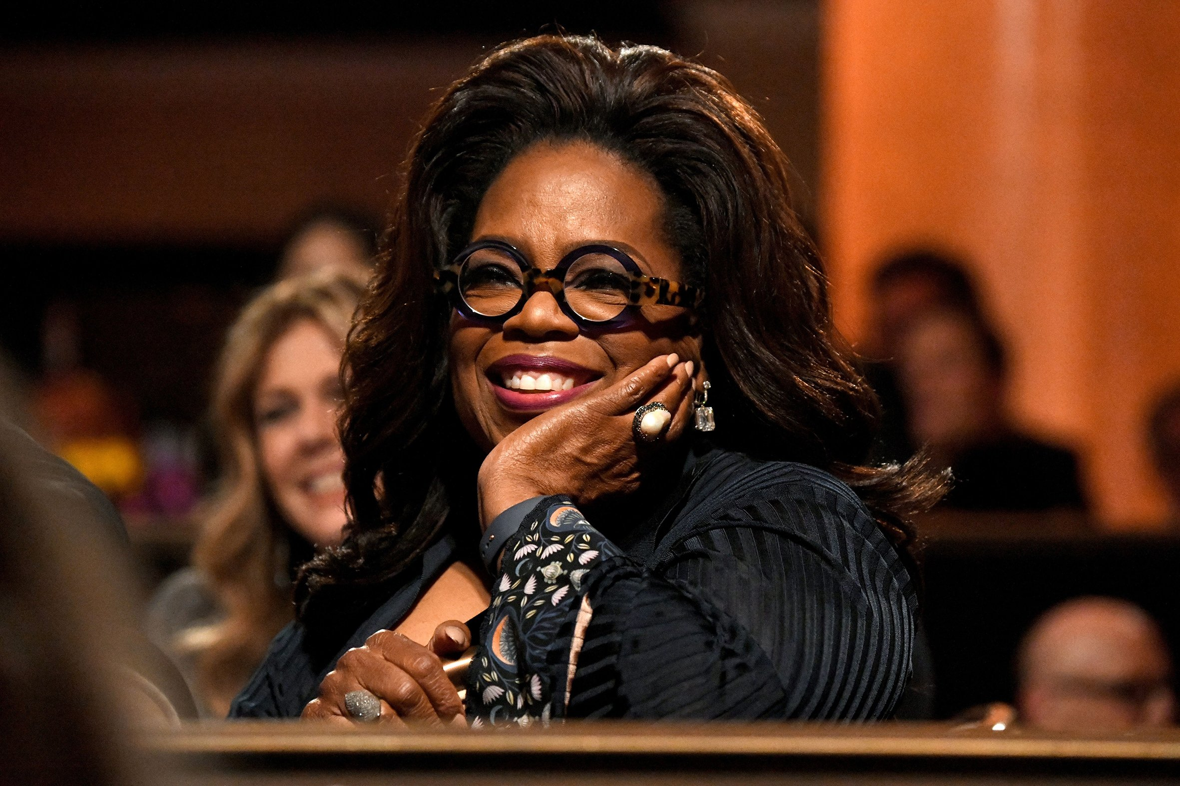 Oprah Winfrey at the Ambassadors For Humanity Gala Benefiting USC Shoah Foundation honoring Rita Wilson and Tom Hanks in 2018 in Beverly Hills   Source: Getty Images