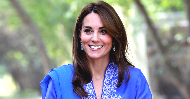 Kate Middleton Stuns in Royal Blue Classic Kurta with Trousers & Scarf on Royal Tour of Pakistan