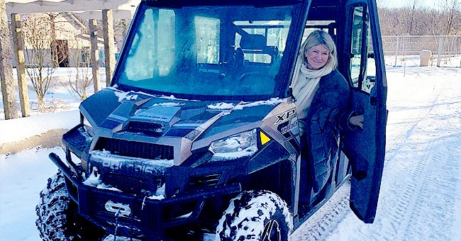 Martha Stewart Proudly Plows Inches of Snow from Her Farm Roads after Recent Snowstorm in New York