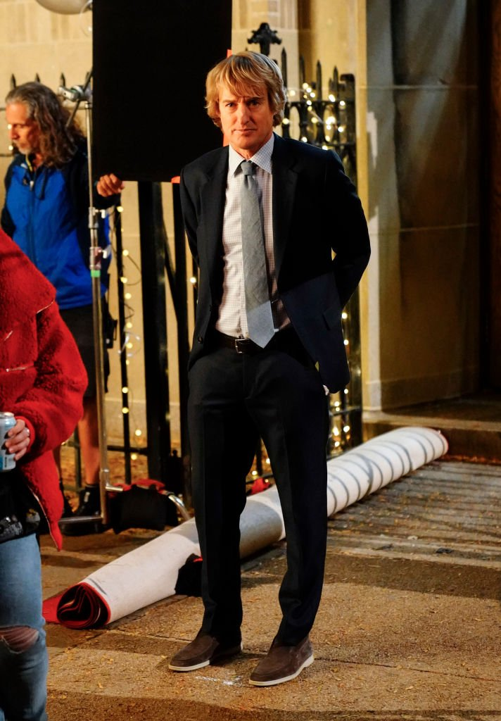 """Owen Wilson on the set of """"Marry Me"""" on November 15, 2019 in New York City 