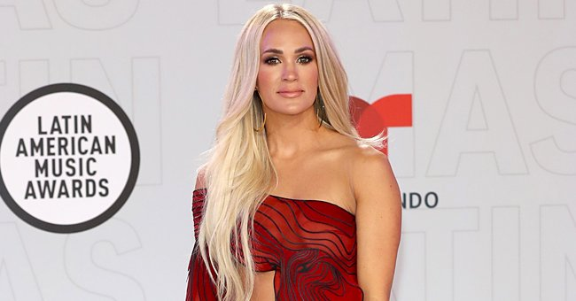 Carrie Underwood Steals the Spotlight Adorned in a Stunning Gown at the 2021 Latin AMAs