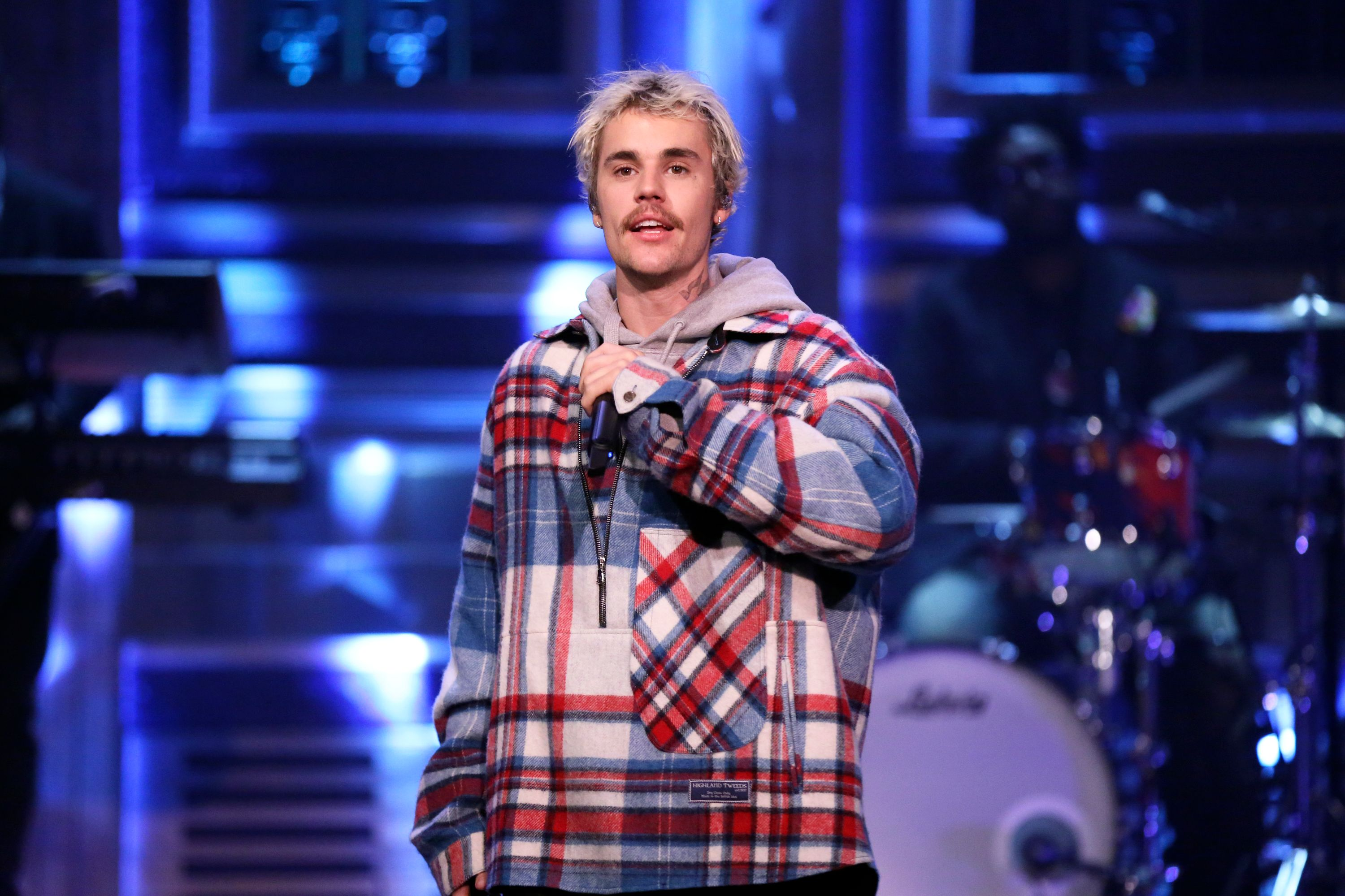 """Justin Bieber performs on """"THE TONIGHT SHOW STARRING JIMMY FALLON """" on February 14, 2020 
