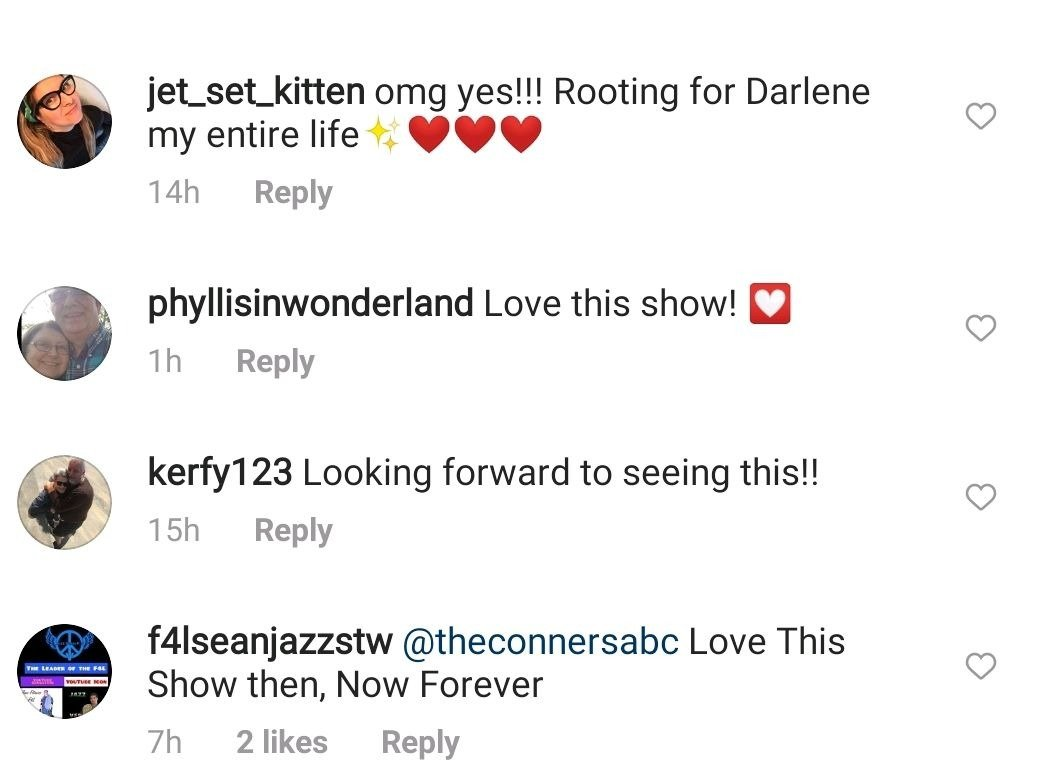 """Fans' reactions to a scene from """"The Conners."""" 