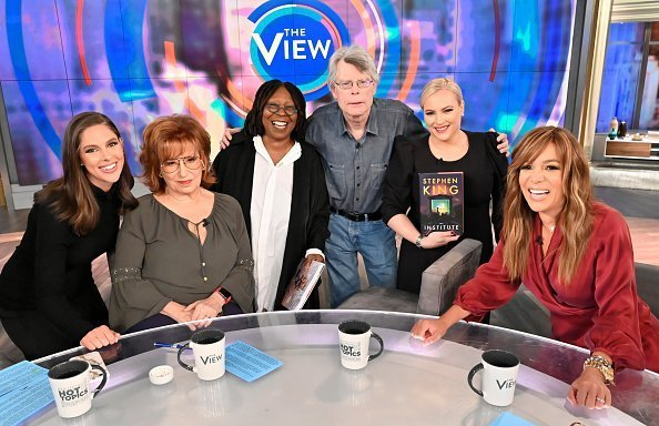 "Whoopi Goldsberg as a moderator on the famed talk show ""The View"" 