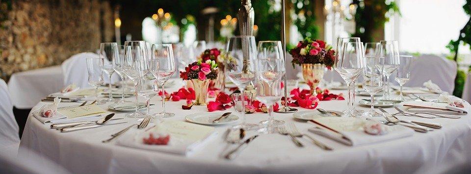Recepción de una boda. │Imagen tomada de: Pixabay