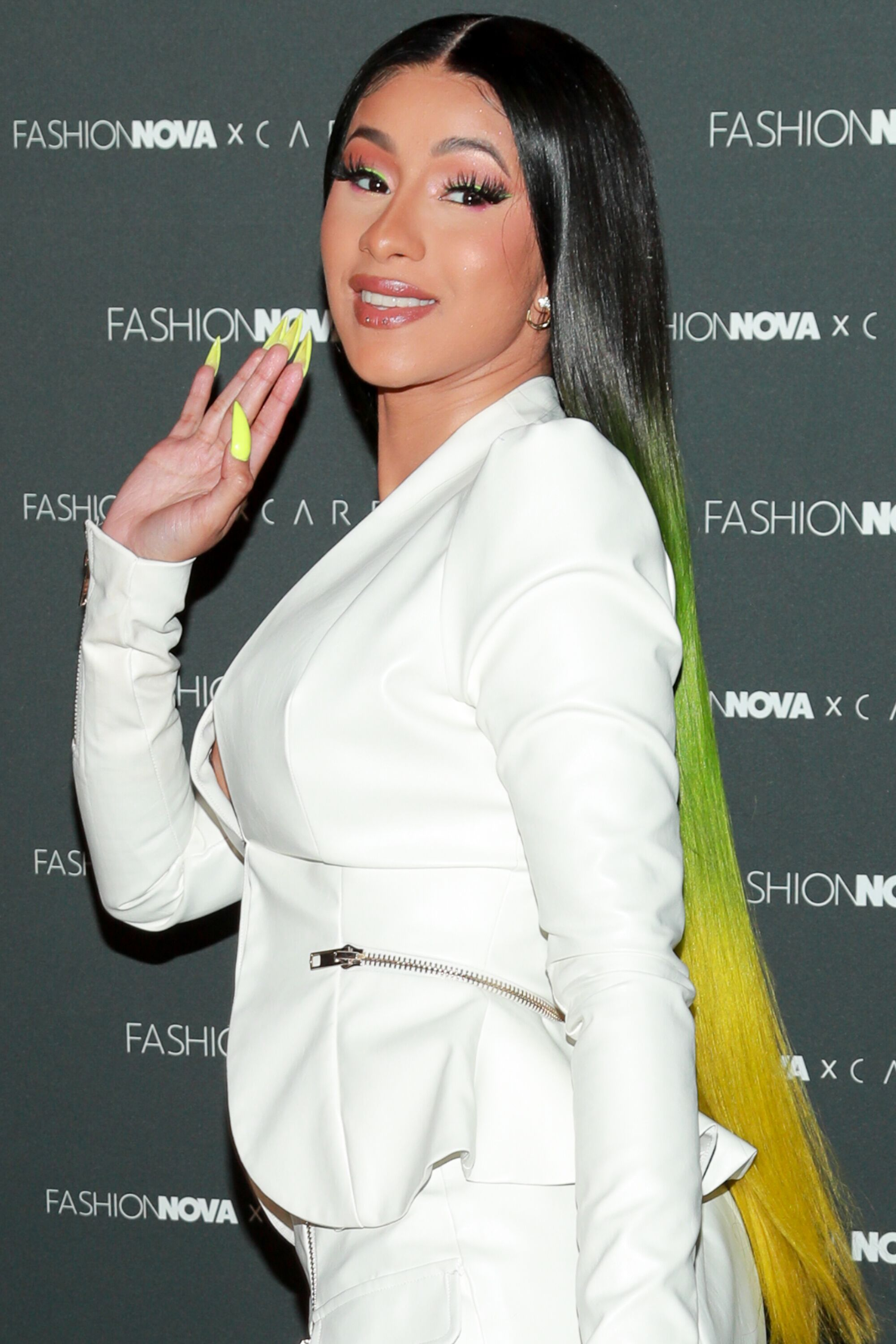 Cardi B attends the Fashion Nova x Cardi B Collection launch party at Hollywood Palladiumon May 08, 2019.   Source: Getty Images