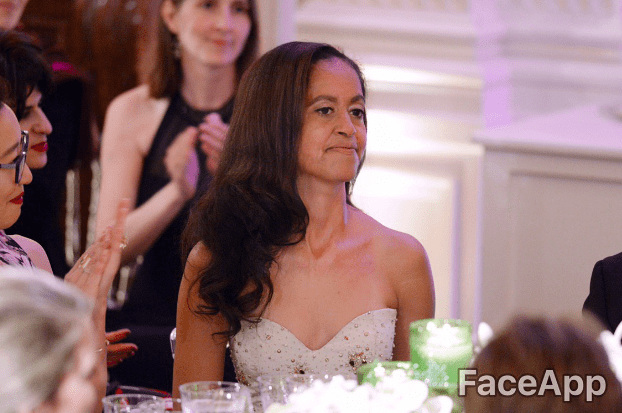 Malia Obama | Source : GettyImages / FaceApp