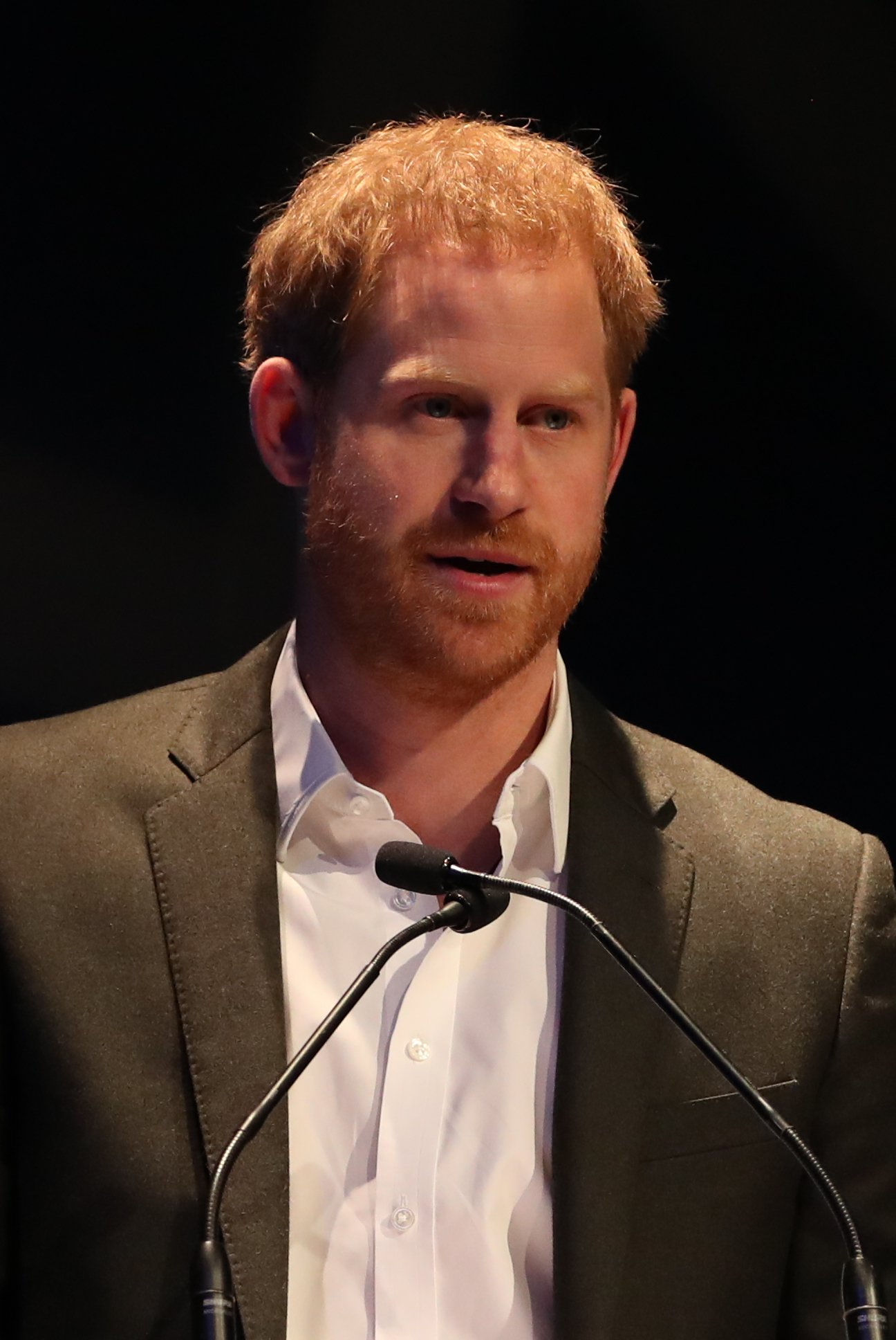 Prince Harry, Duke of Sussex speaks as he attends a sustainable tourism summit at the Edinburgh International Conference Centre on February 26, 2020 in Edinburgh, Scotland. | Source: Getty Images
