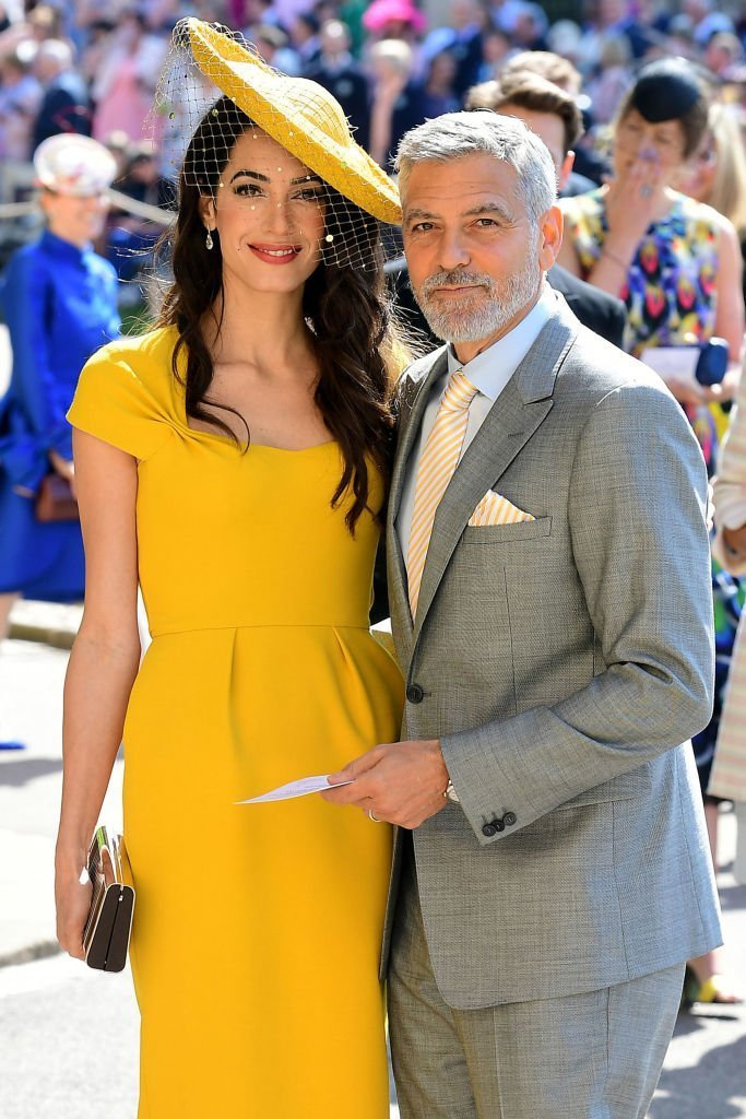 Amal and George Clooney arrive at St George's Chapel at Windsor Castle before the wedding of Prince Harry to Meghan Markle | Getty Images