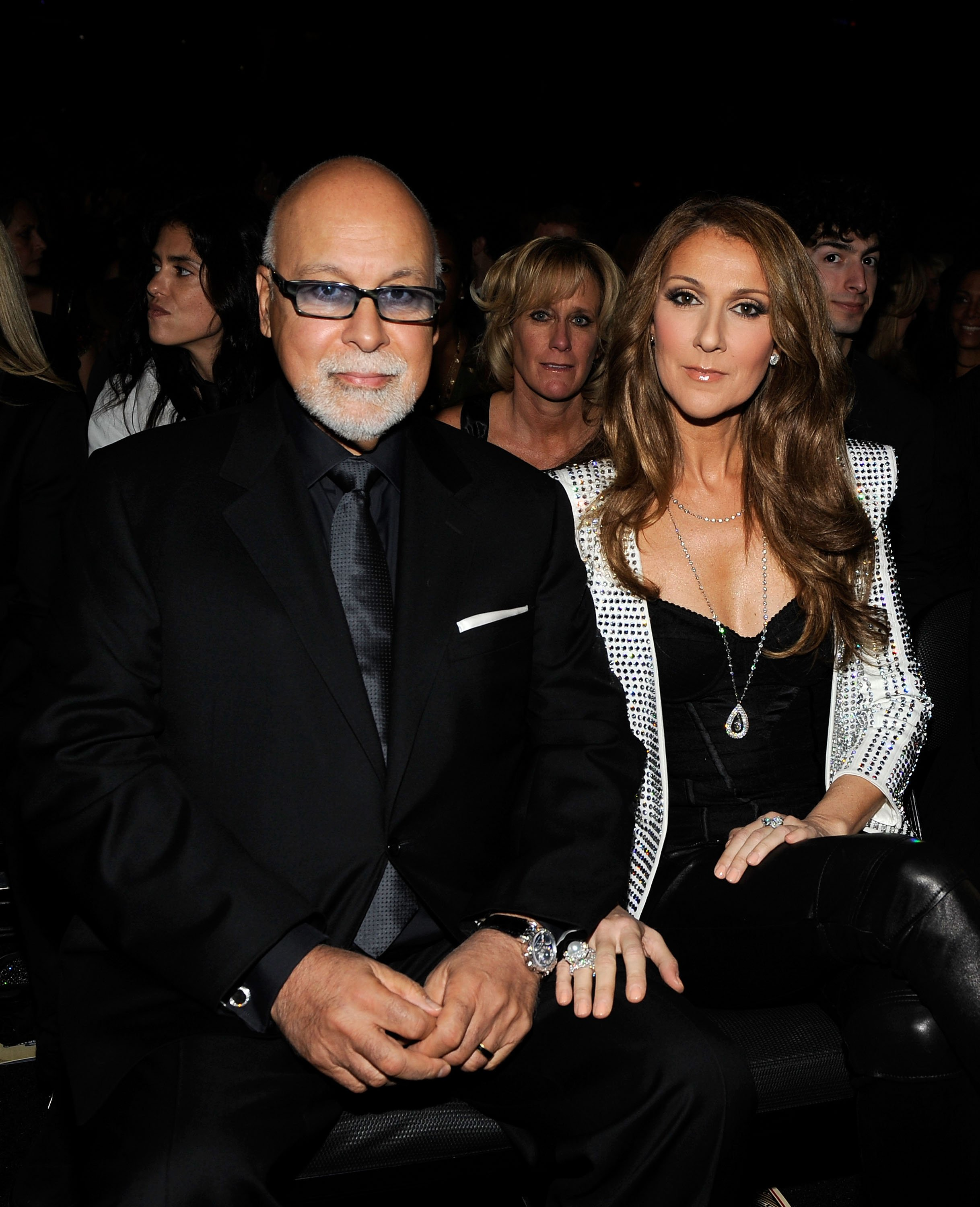 Celine Dion (R) and husband Rene Angelil in the audience during the 52nd Annual GRAMMY Awards held at Staples Center on January 31, 2010, in Los Angeles, California. | Source: Getty Images.