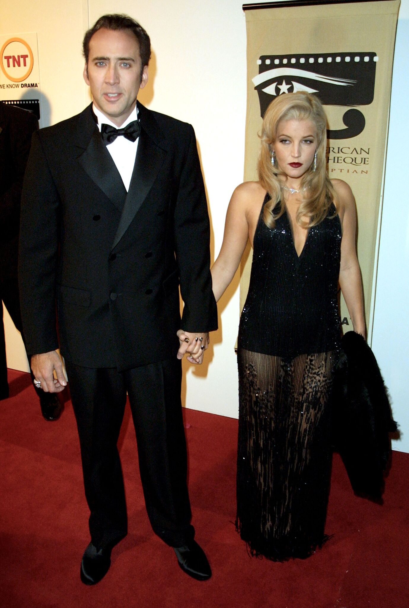 Nicolas Cage and Lisa Marie Presley arrive at the 16th Annual American Cinematheque Award | Getty Images