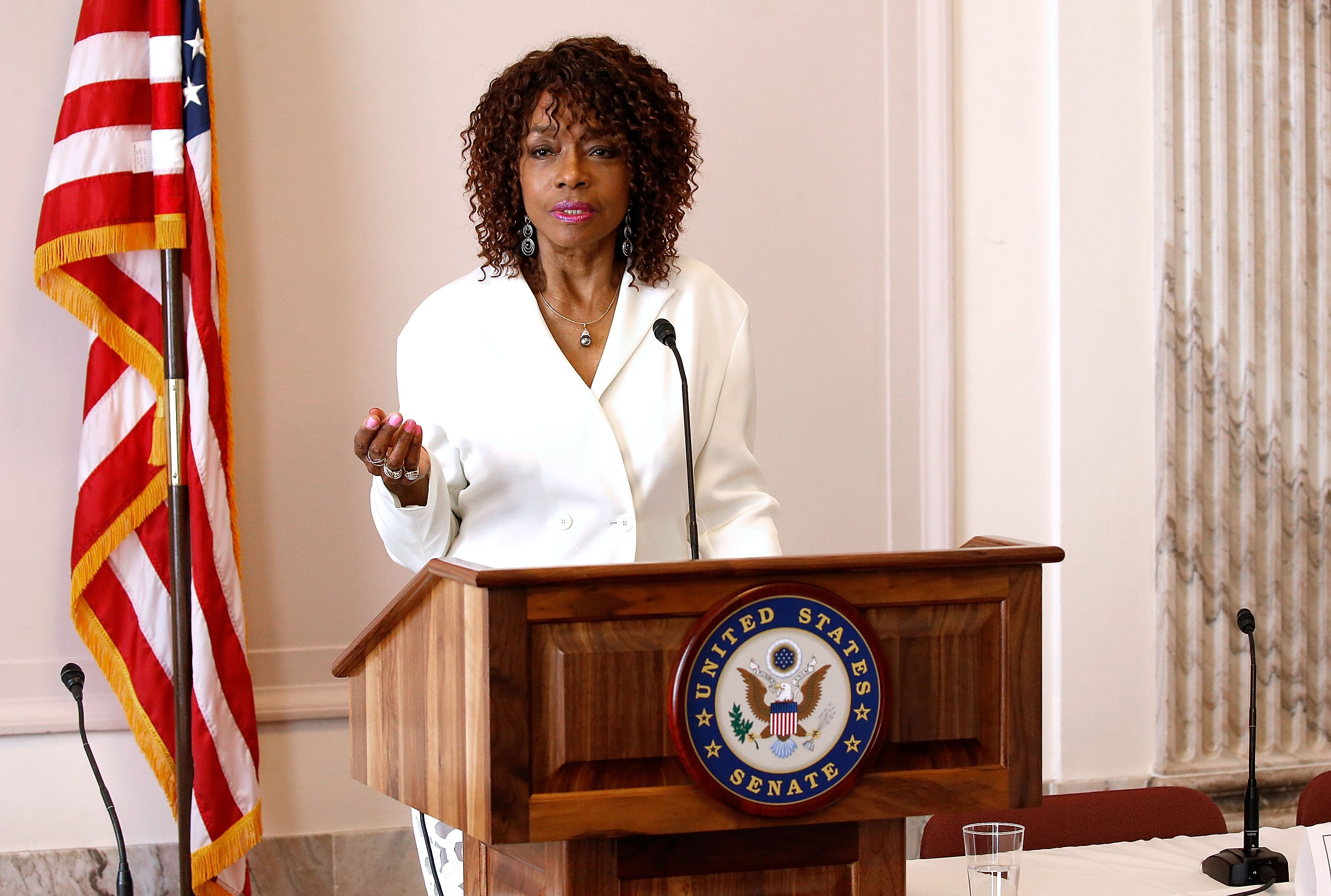 Beverly Todd speaks at the Media Solutions Summit at the Russell Senate Office Building on April 27, 2017. | Photo: GettyImages