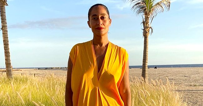 Tracee Ellis Ross from 'Black-ish' Is Glowing as She Rocks Yellow Flowy Dress in a Stunning Beach Photo