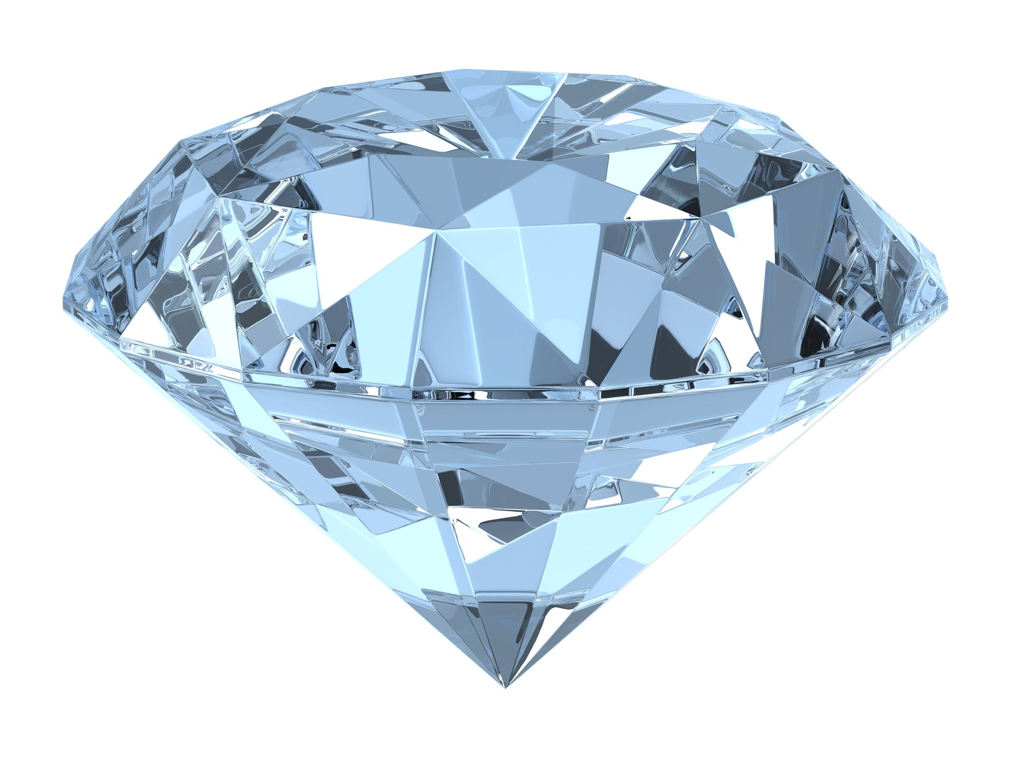Close up photo of a blue diamond. | Photo: Getty Images