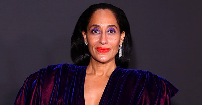 Tracee Ellis Ross Stuns in Plunging Purple Dress Accepting Her NAACP Image Award for Outstanding Comedy Actress in 'Black-ish'