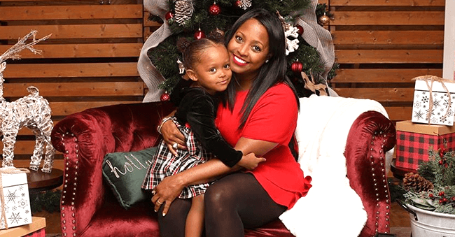 Keshia Knight Pulliam from 'The Cosby Show' and Daughter Ella Pose for Sweet Photo in Front of a Christmas Tree