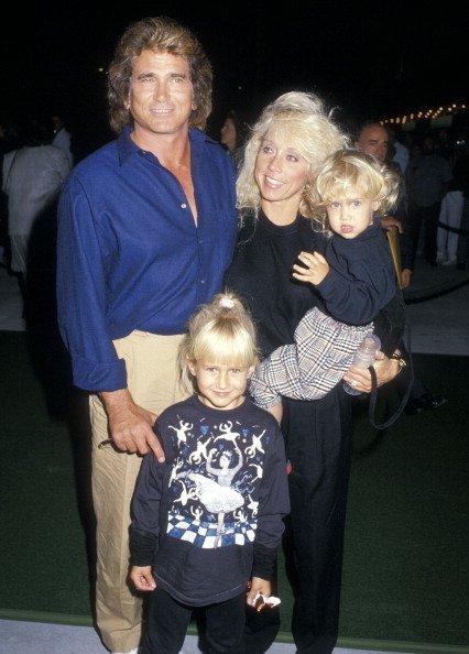 Michael Landon avec deux de ses enfants. l Source: Getty Images