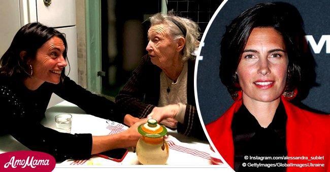 Alessandra Sublet agace ses fans: la photo de sa grand-mère âgée de 92 ans suscite des étincelles