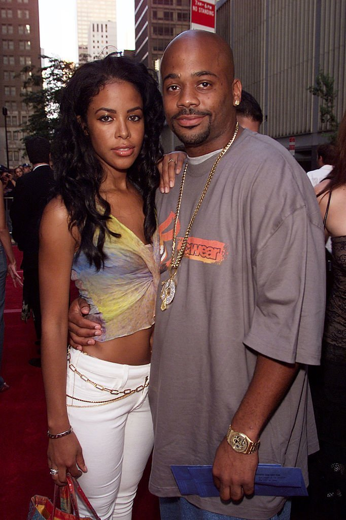 Singer Aaliyah and Damon Dash arrive for the world premiere of the 20th Century Fox film 'Planet of the Apes' at the Ziegfeld Theater in New York City | Photo: Getty Images