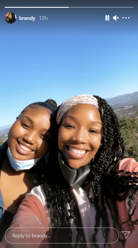 Screenshot of Insta story showing a selfie of Brandy and her daughter Sy'Rai | Source: Instagram/brandy