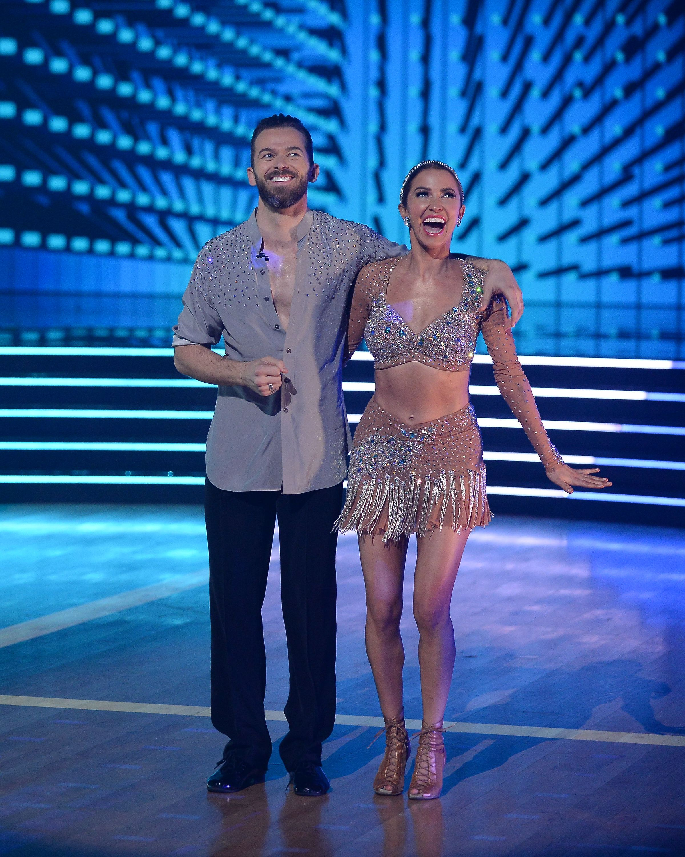 """Kaitlyn Bristowe and Artem Chigvintsev perform in 2020 on """"DWTS"""" 