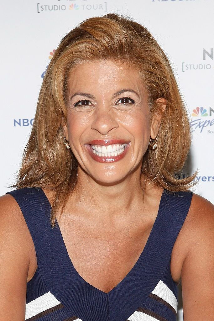 "Hoda Kotb promotes ""Hoda: How I Survived War Zones, Bad Hair, Cancer, and Kathie Lee"" at NBC Experience Store on July 22, 2011, in New York City 