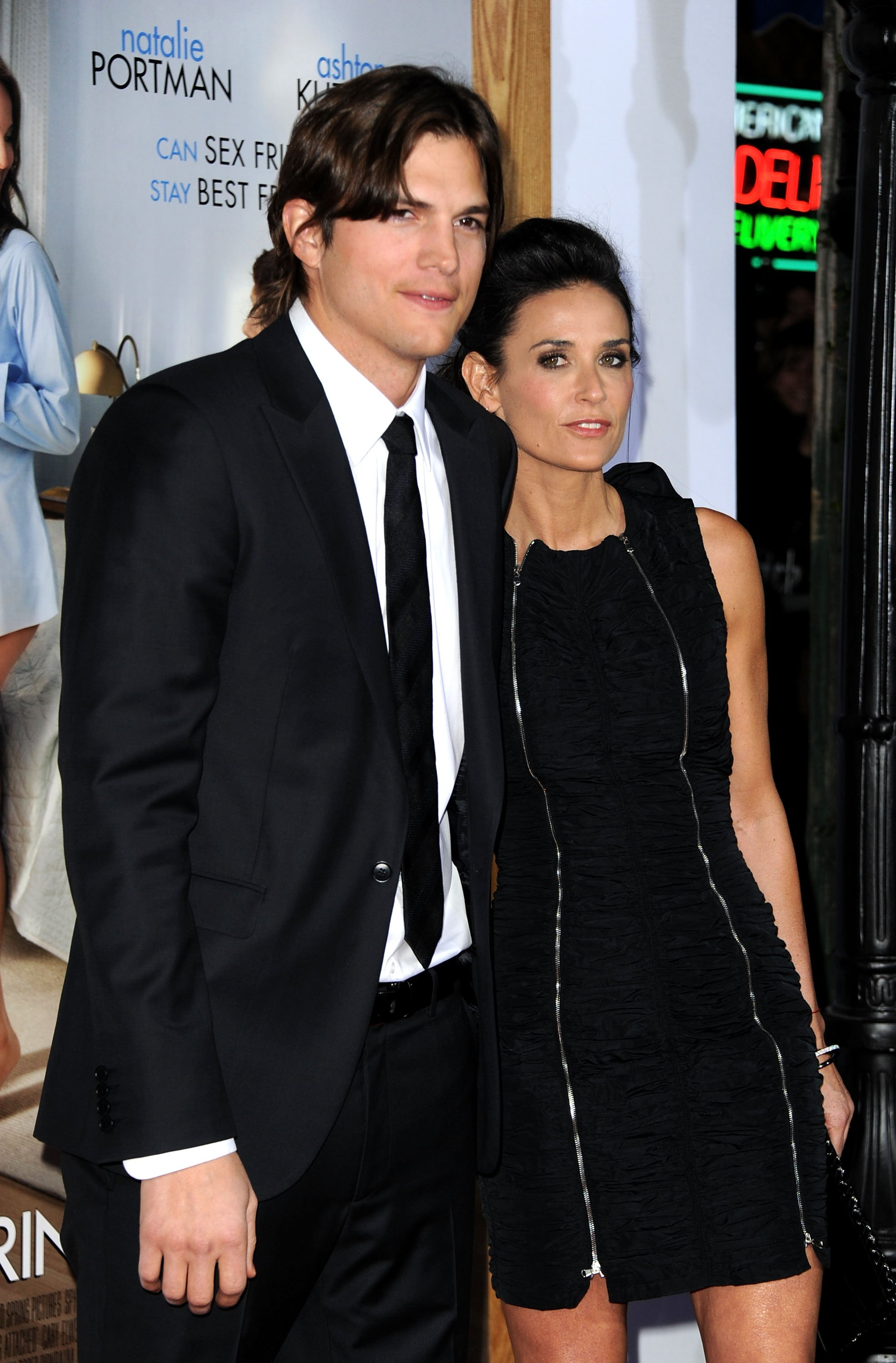 "Ashton Kutcher and Demi Moore at Paramount Pictures' ""No Strings Attached"" premiere in 2011. 