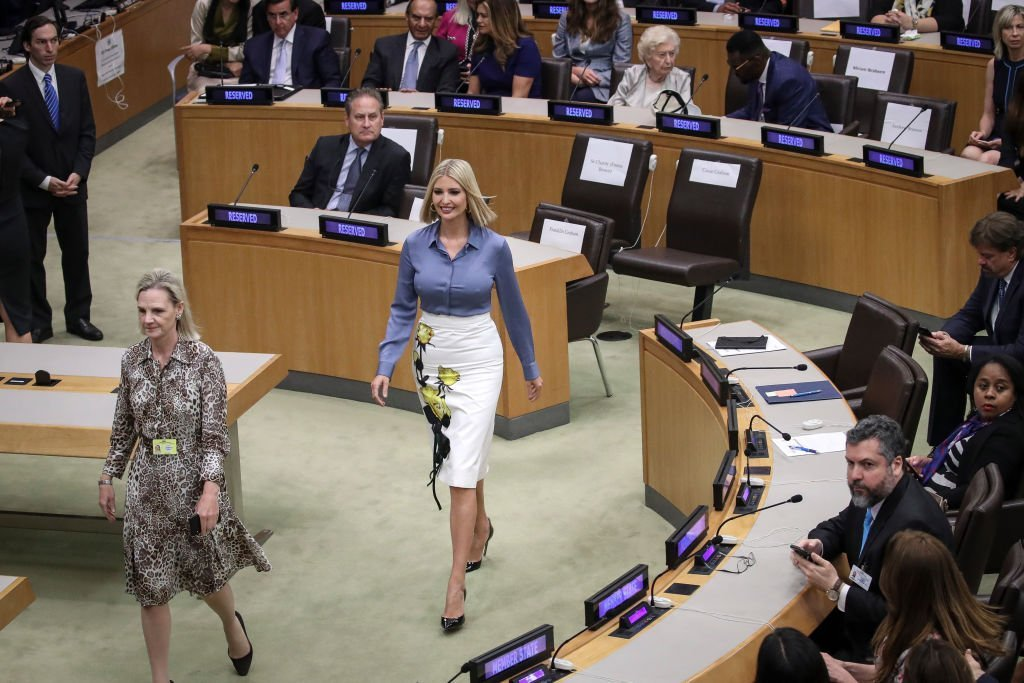 Ivanka Trump arrives at a meeting on religious freedom at United Nations |Source: Getty images