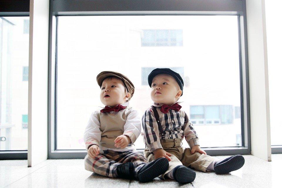 Gemelos inocentes y adorables │Imagen tomada de: Pixabay
