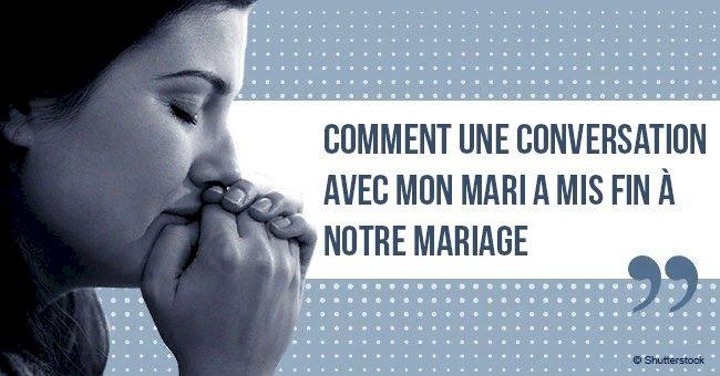 Une femme a révélé comment une conversation avec son mari a mis fin à leur mariage