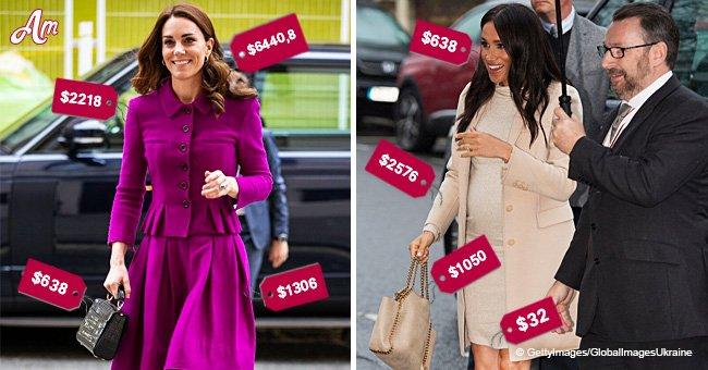 Atuendo de Kate Middleton vence al de Meghan Markle en precio al costar el doble