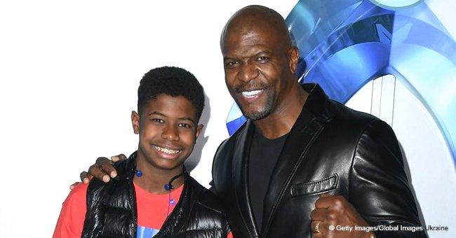 Terry Crews makes rare public appearance with his son who has grown very tall & looks like him