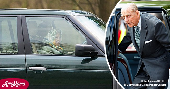 Queen Was Spotted Driving Alone 5 Days After Prince Phillip's Car Crash Involving a Mom and Baby