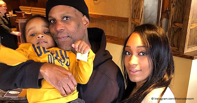 DMX cuddles up to his fiancée and son in 1st photo after serving prison sentence for tax evasion