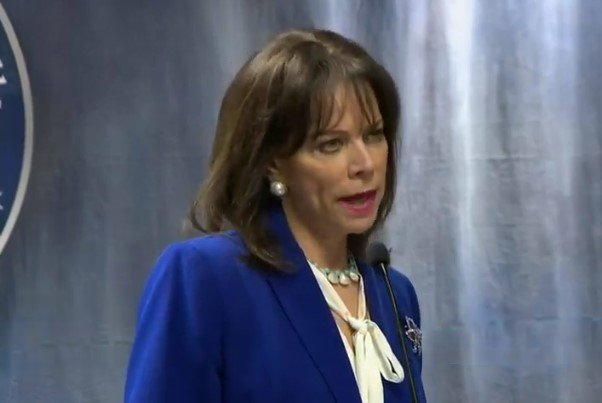 Katherine Fernandez Rundle, Miami-Dade State Attorney, talked to reporters about the enhancing of charges.   Source: YouTube/CBS Miami