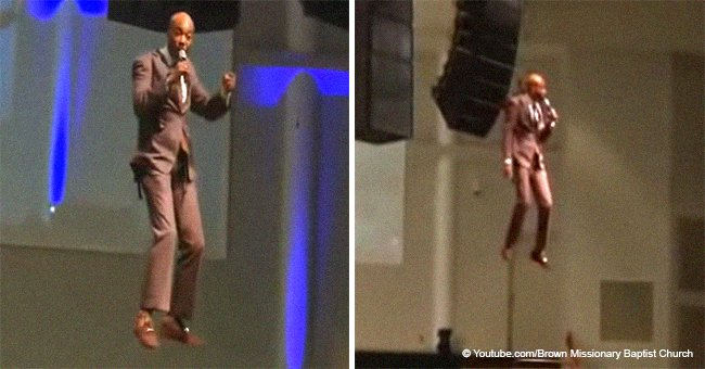'Flying pastor' goes viral after imitating dramatic return of Jesus in church