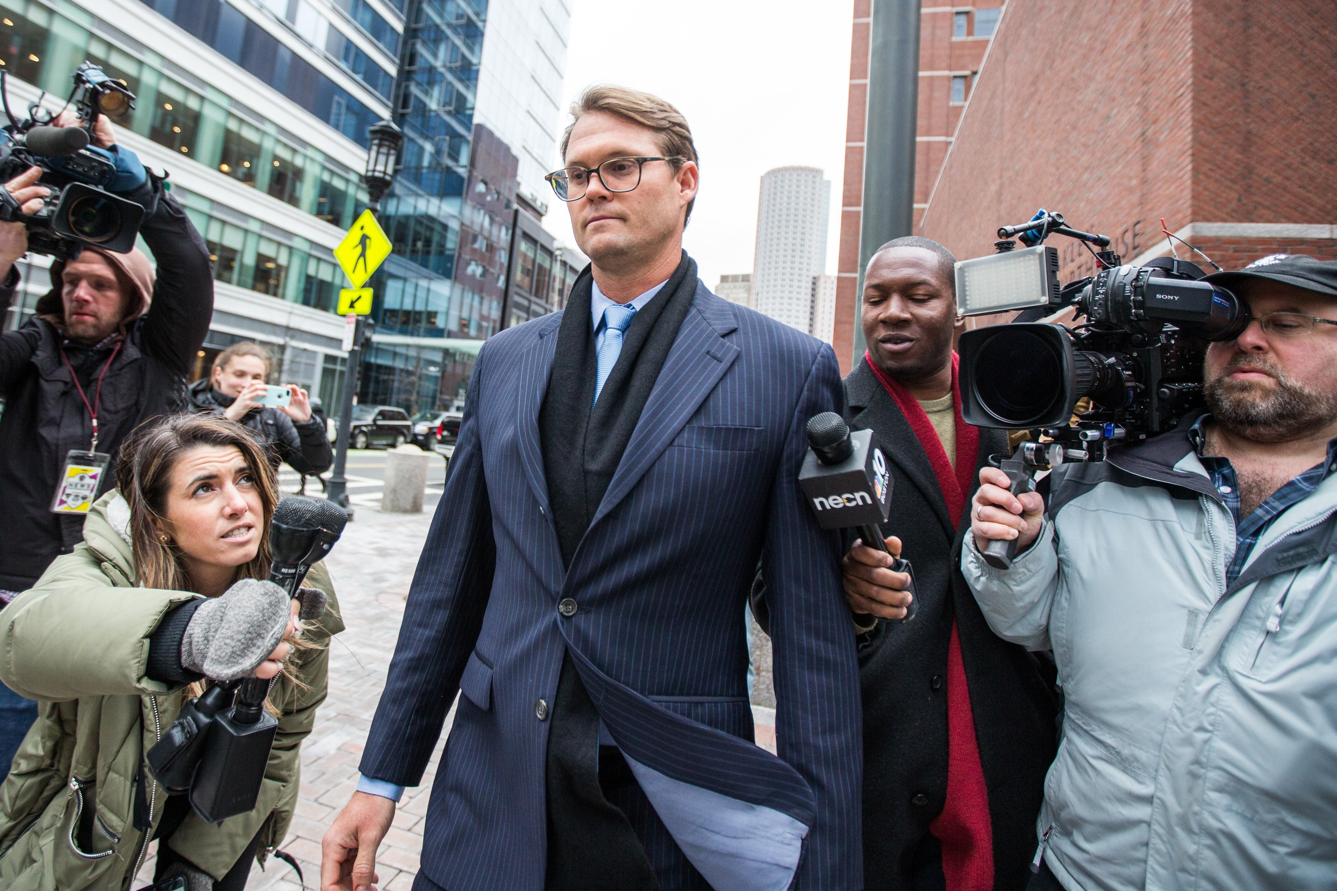 Mark Riddell outside the Boston Federal Court after his hearing, Massachusetts | Photo: Getty Images
